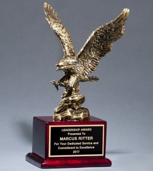 1588 Antique Bronze Eagle Statue