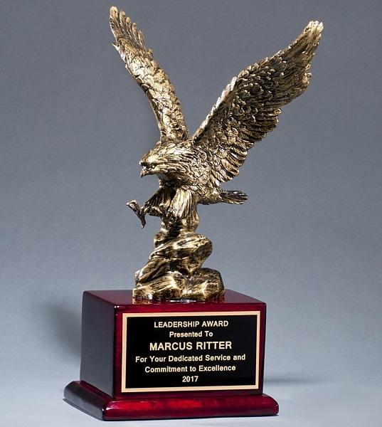 1588 Antique Bronze Eagle Statue