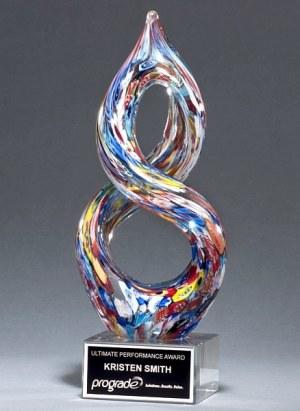 2270 Helix Art Glass Award
