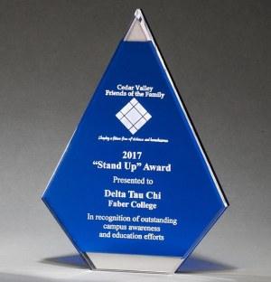 Blue Acrylic Flame Trophy A708789