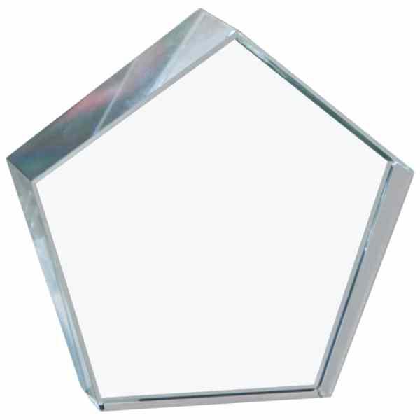 Crystal Pentagon Paperweight Blank