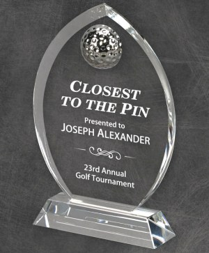 96409 96410 Crystal Golf Award