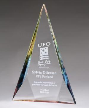Rainbow Diamond Crystal Award K917789