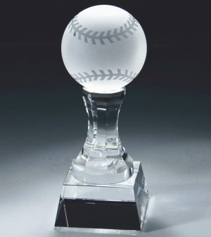 Crystal Baseball Trophy CRY147