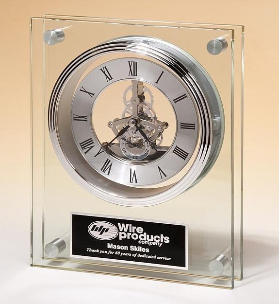 Large Glass Clock BC1011