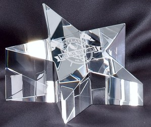 Crystal Star Paperweight CRY224