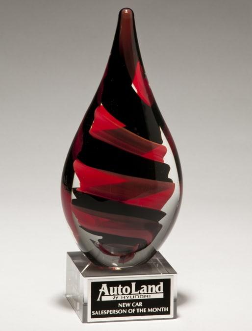 Red & Black Art Glass Award