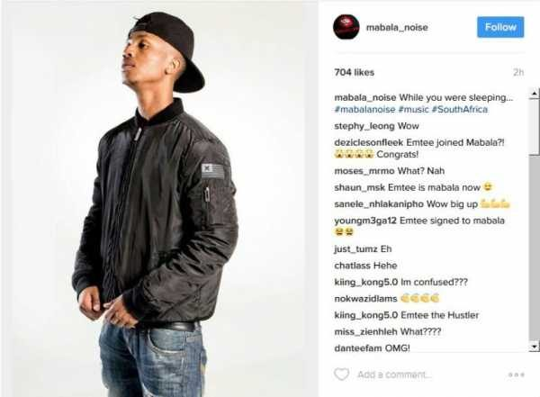 Emtee Signed For Mabala Noise? News