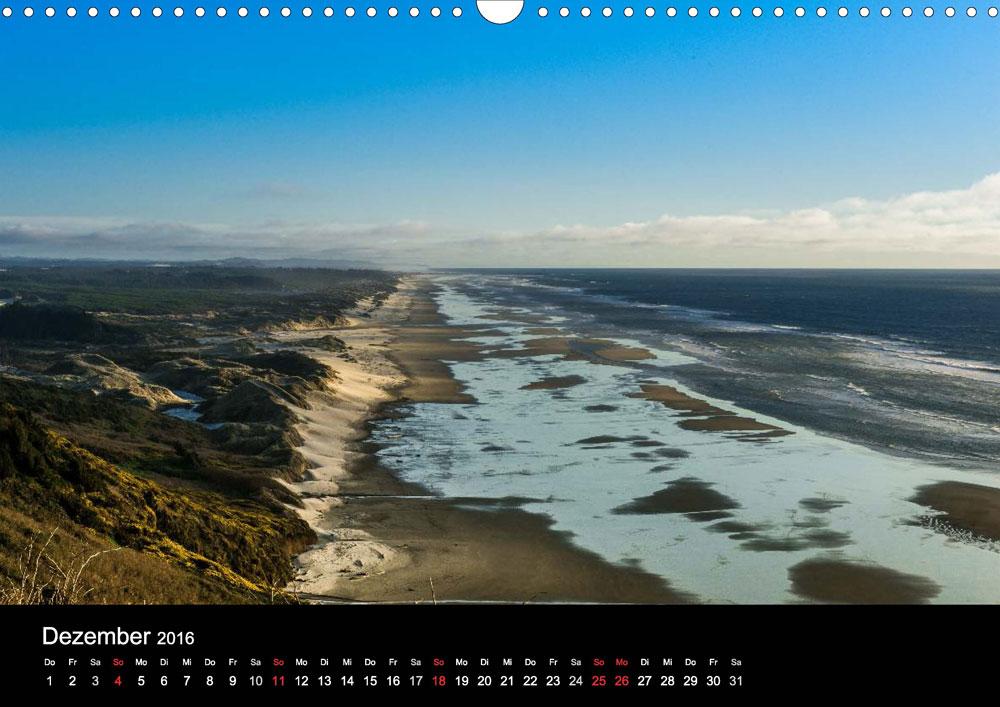 Kalender Die OregonKste  wwwhitzblecknet
