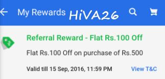 flipkart refer earn reward proof hiva26