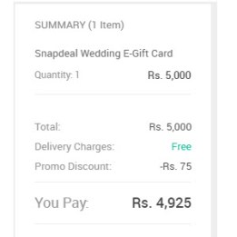 snapdeal e-gift card friendship day proof hiva26
