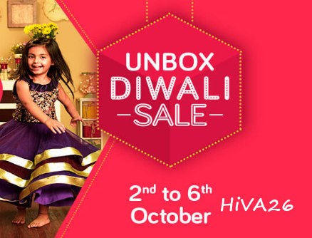 Snapdeal Unbox Diwali Sale October offers and deals on hiva26