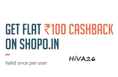 freehcharge 100rs cashback on shopo hiva26