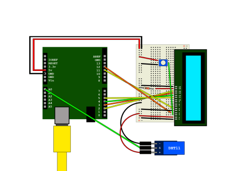 small resolution of arduino and dht11 output to lcd module hive rd blog lcd wiring diagram