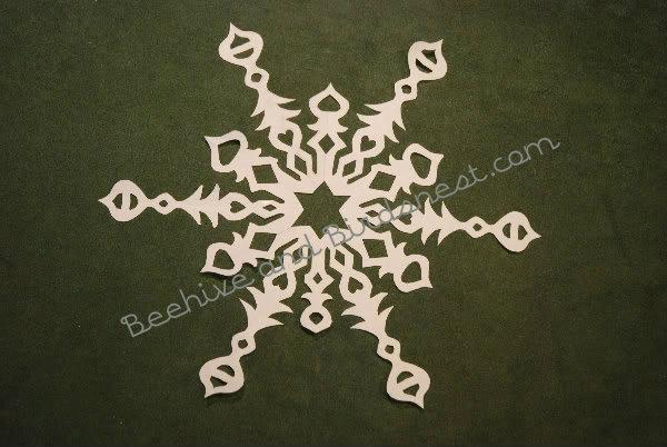 flat seuss snowflake
