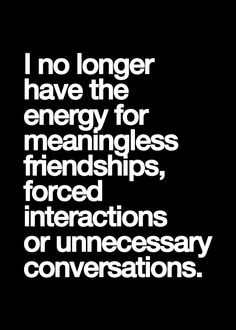meaningless friendships
