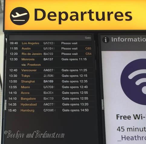 Departures from Heathrow