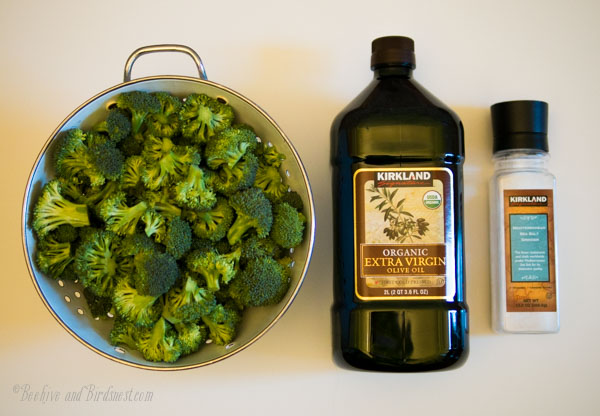 Roasted Broccoli ingredients-Beehiveandbirdsnest.com
