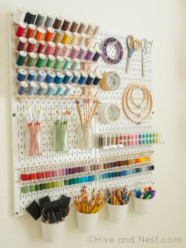 Pegboard Art Craft Display