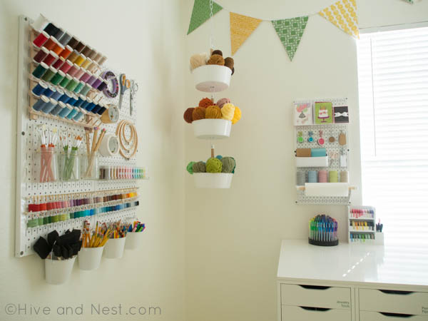 craft room peg board