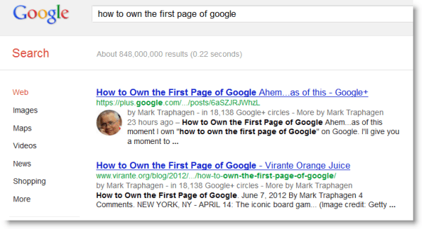 How to Own First Page of Google