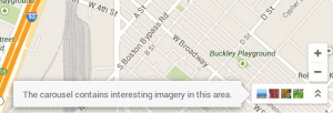 New Google Maps photo carousel access