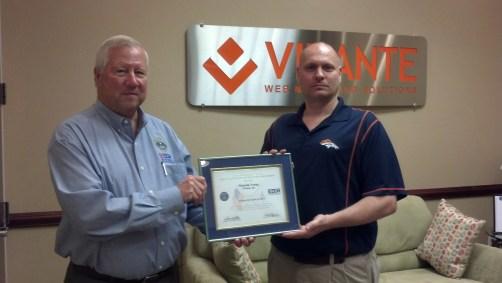 Malcolm Young Virante Patriotic Employer Award