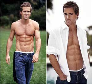 Ryan Reynolds Six Pack before and after