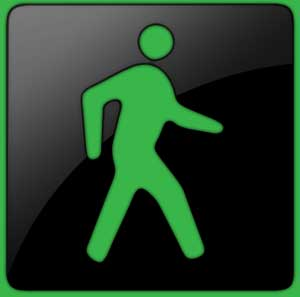 green walk light symbol