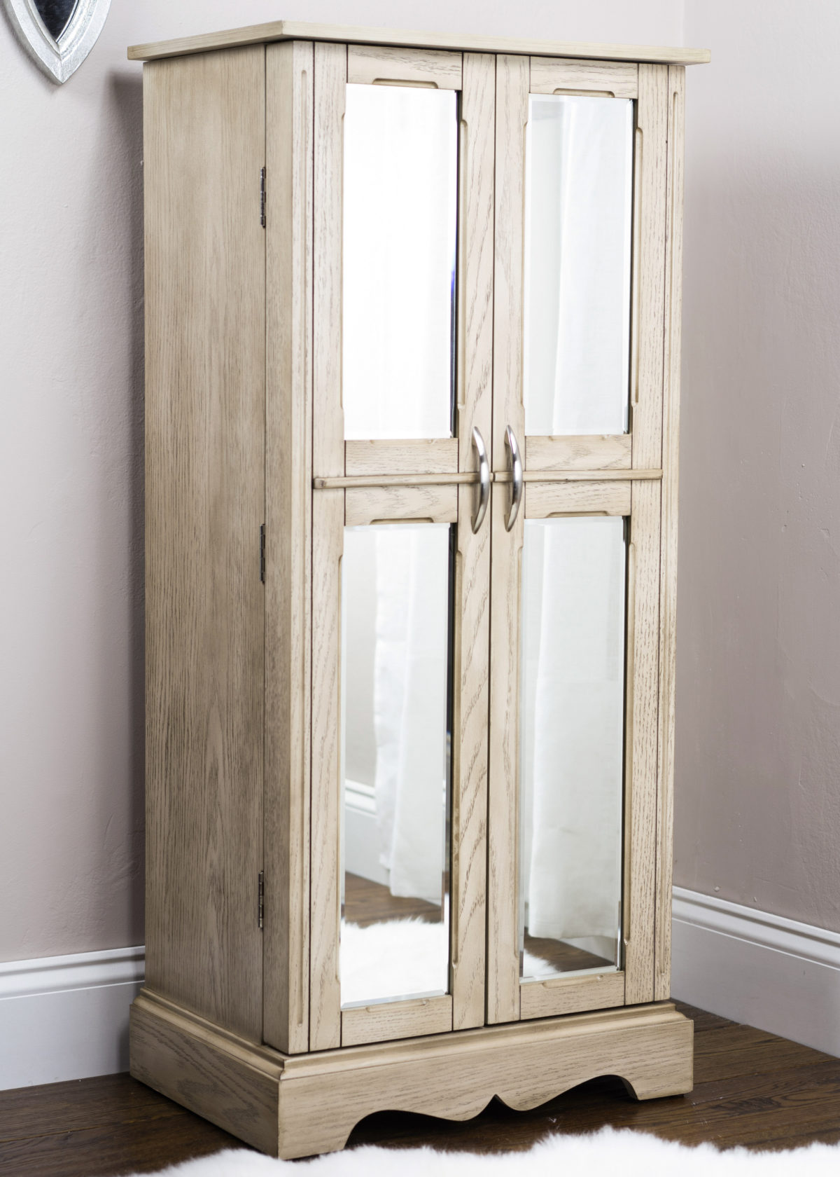 Chelsea Jewelry Armoire  Taupe Mist  Hives and Honey
