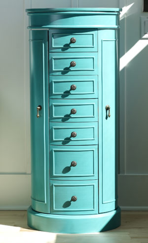 Bailey Jewelry Armoire  Turquoise  Hives and Honey