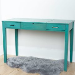 Desk Chair Turquoise Covers Wedding Hull Ainsley Vanity Hives And Honey
