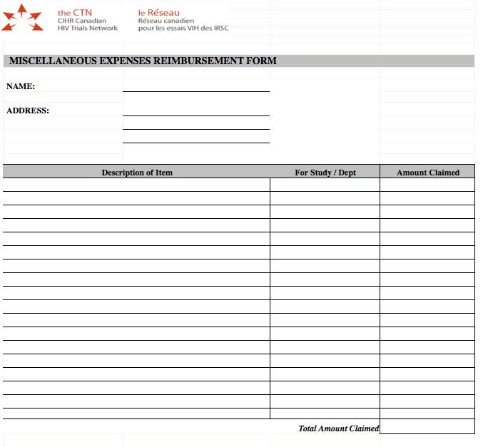expense reimbursement form