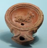 Roman Oil Lamp: Goat