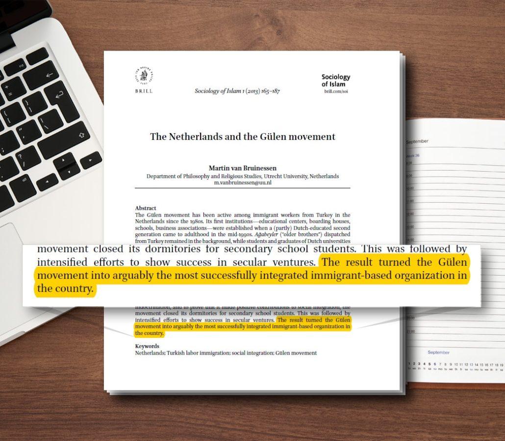 Prof. Van Bruinessen bevinding n.a.v. onderzoek naar Gulenbeweging in Nederland, die op verzoek van Tweede Kamer werd uitgevoerd
