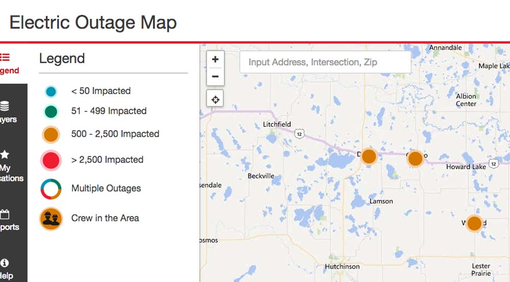 Xcel Energy Outages