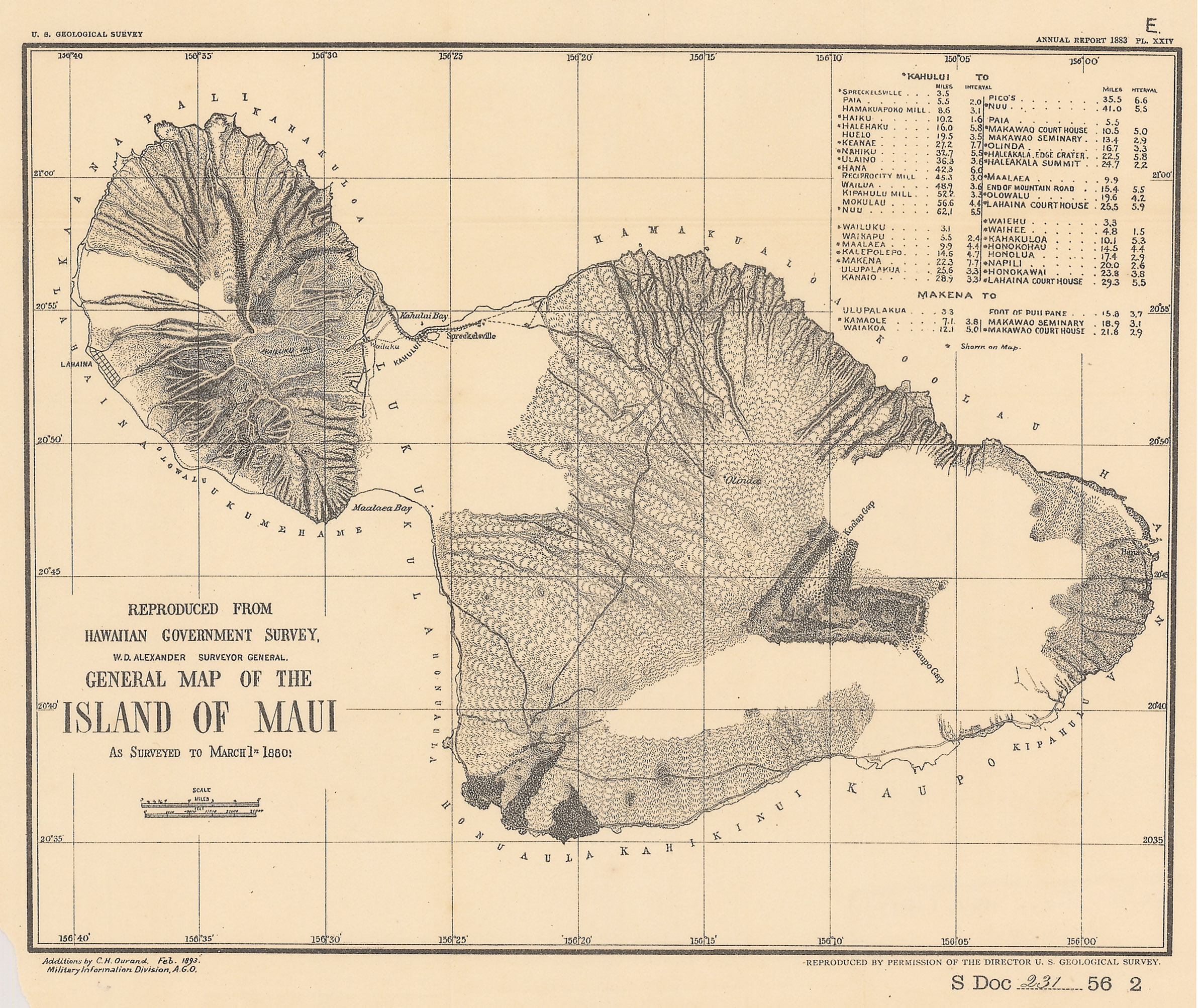 General Map Of The Island Of Maui New World