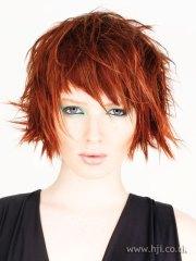 2008 redhead choppy hairstyle