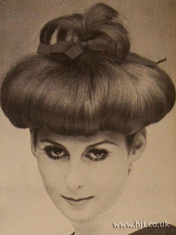 1966 updo mushroom hairstyle  HJI