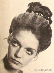 1969 updo straight hairstyle