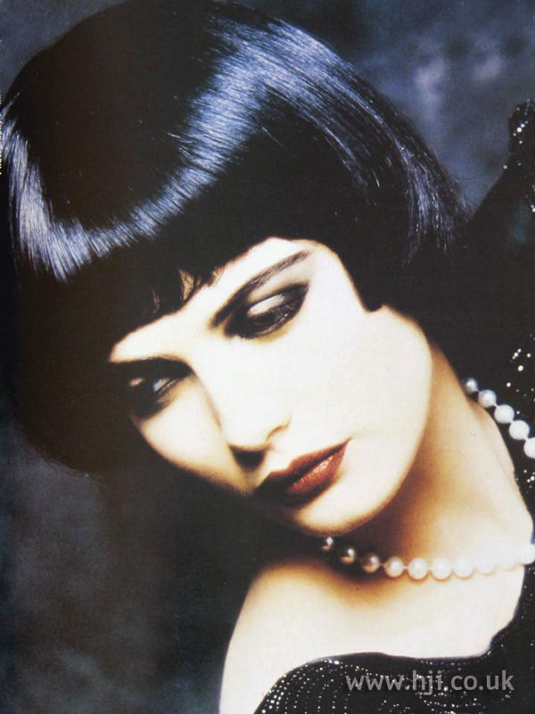 1987 black bob hairstyle  HJI