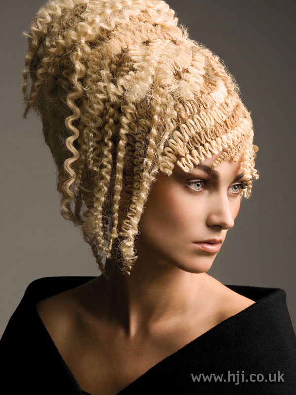 2008 Crimped Updo Hairstyle HJI