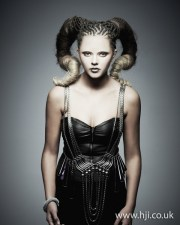 2012 braided avant garde updo hairstyle
