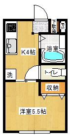 人気のバス・トイレ別!(間取)