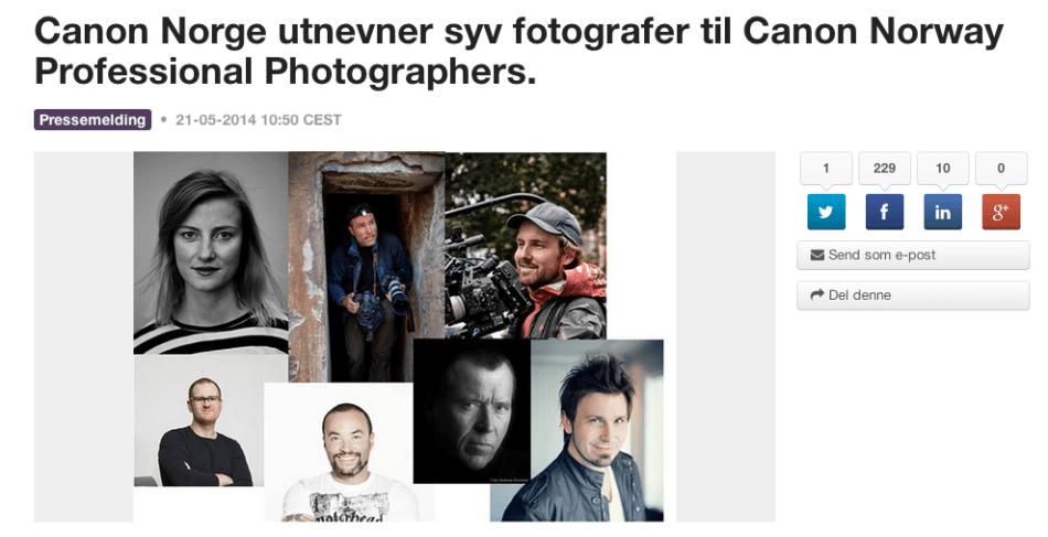 Official Canon Håvar Karlsen
