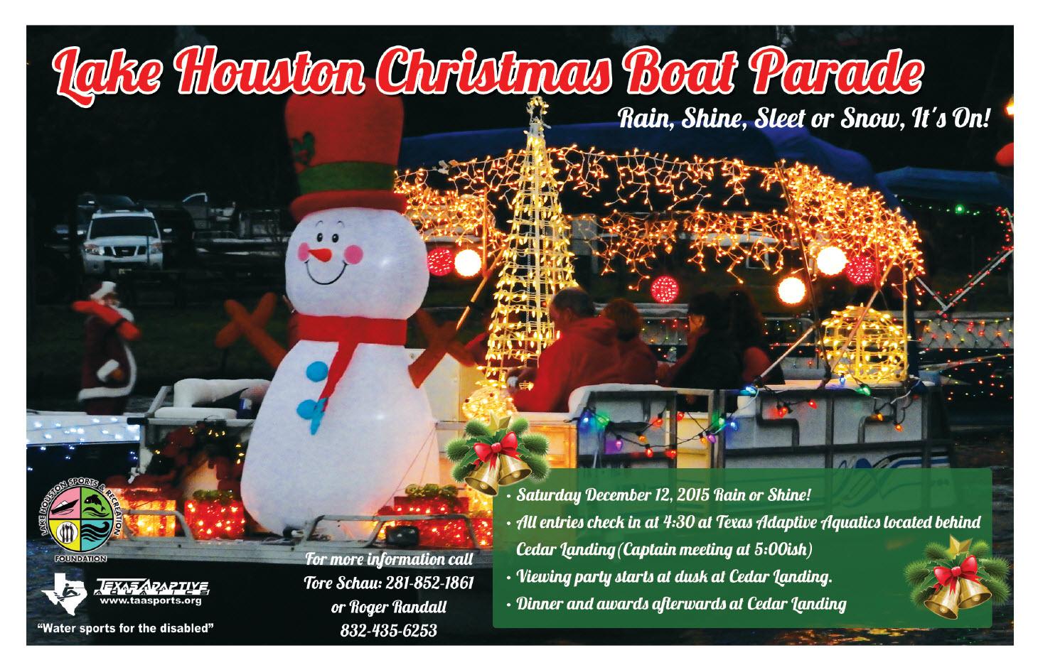 Lake Houston Christmas Boat Parade Saturday December 12 2015