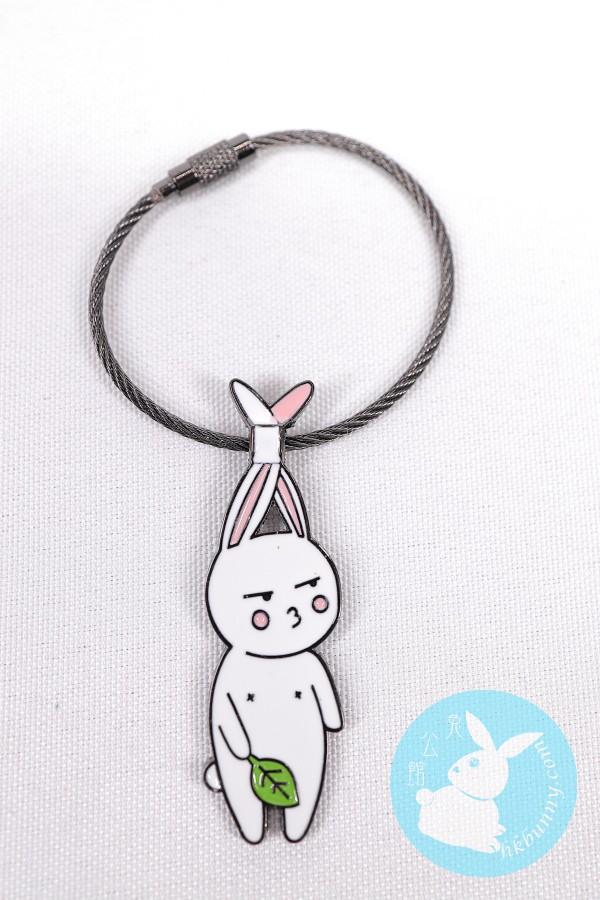 可愛兔兔金屬製韓式鎖匙扣