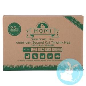 Momi 摩米 2st cut 提摩西(穗牧)草 Timothy 2st cut 2.5kg (1 x 2.5kg 袋連盒裝)