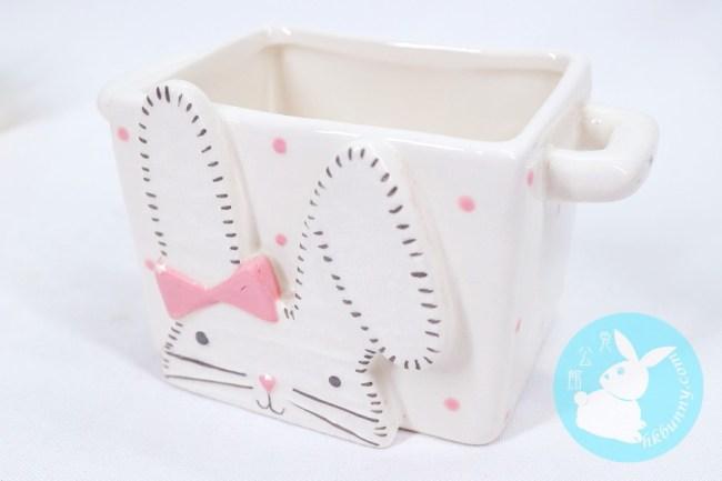 小兔湯碗(粉紅色方型)