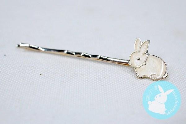 小小白兔髮夾